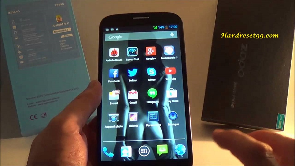 Zopo ZP990 Plus Hard reset - How To Factory Reset
