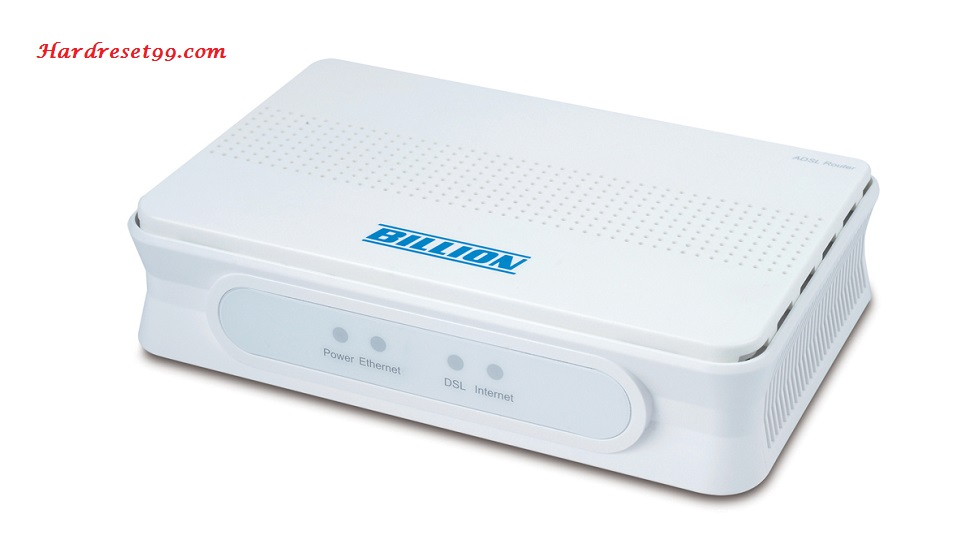 Billion 5200S Router - How to Reset to Factory Settings