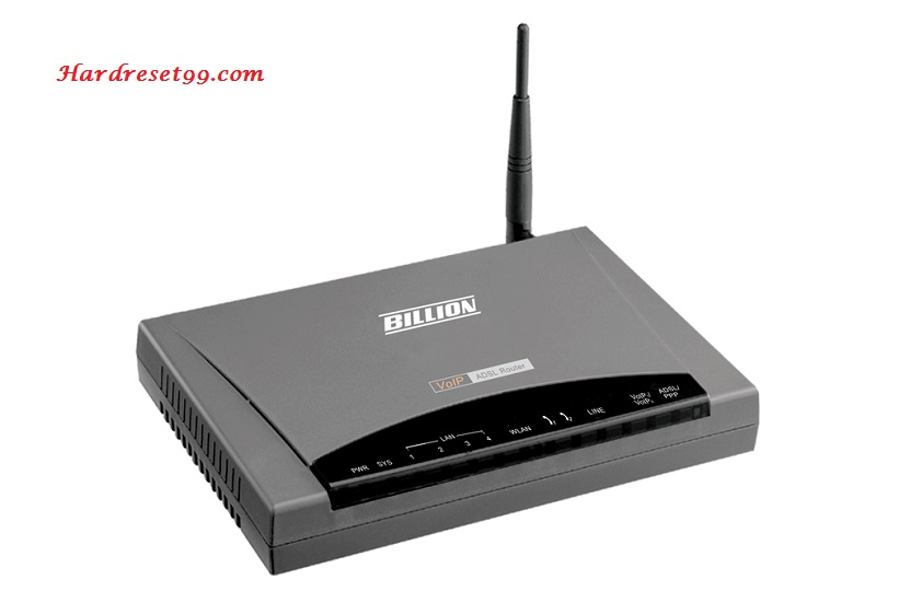 Billion BiPAC-7404VPNX Router - How to Reset to Factory Settings