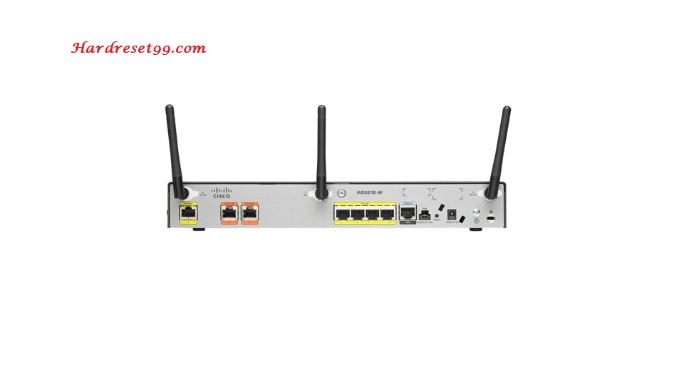 Cisco C881W Router - How to Reset to Factory Defaults Settings