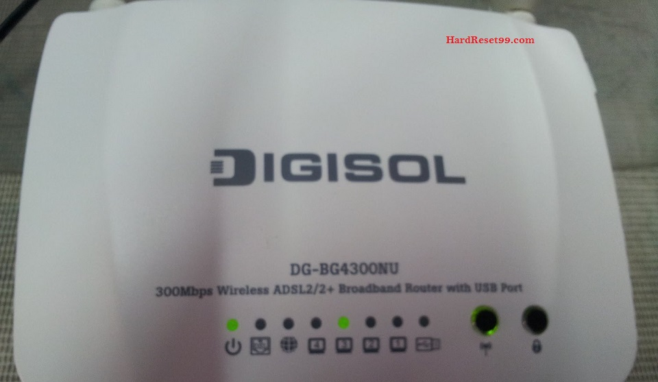 Digisol DG-BG4100NU Router - How to Reset to Factory Settings