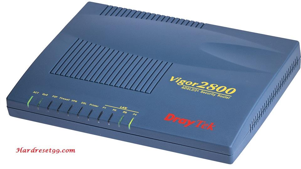 DrayTek Vigor-2800G Router - How to Reset to Factory Settings