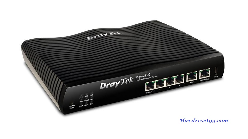 DrayTek Vigor-2900V Router - How to Reset to Factory Settings