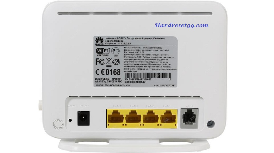 Huawei HG8245 Router - How to Factory Reset