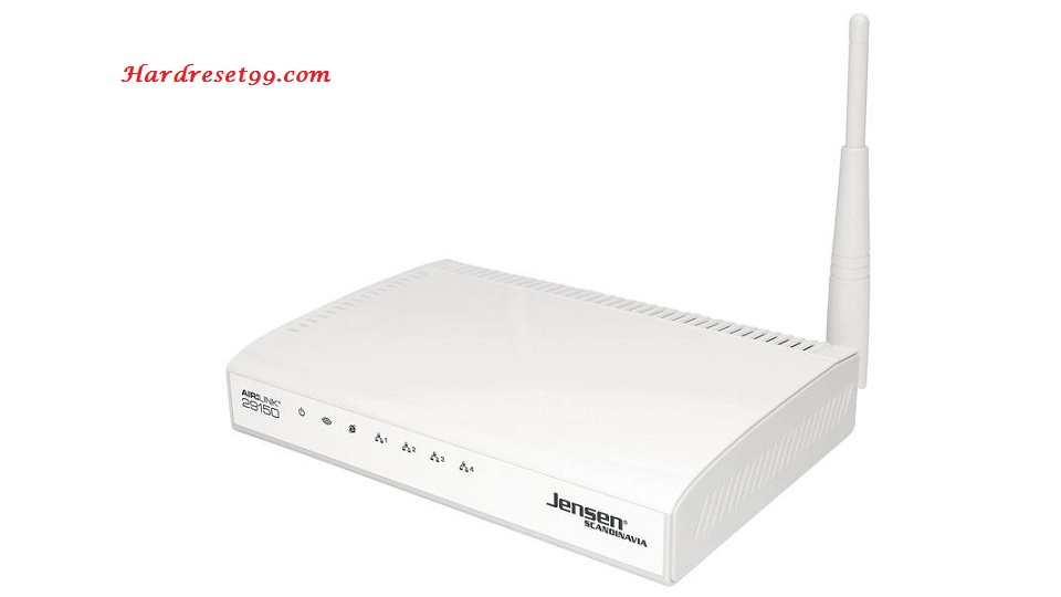 Jensen-Scandinavia AirLink-29150 Router - How to Reset to Factory Settings