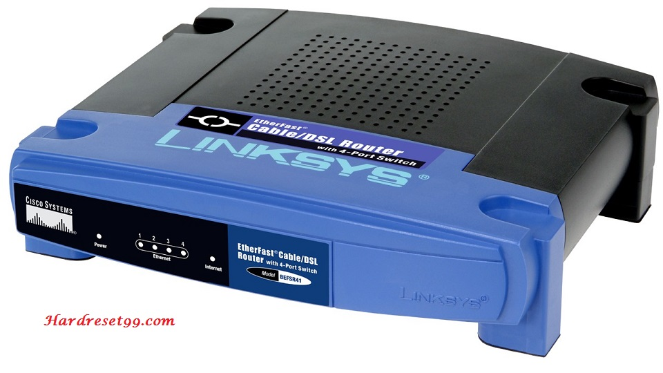 Linksys BEFSR41v2 Router - How to Reset to Factory Settings