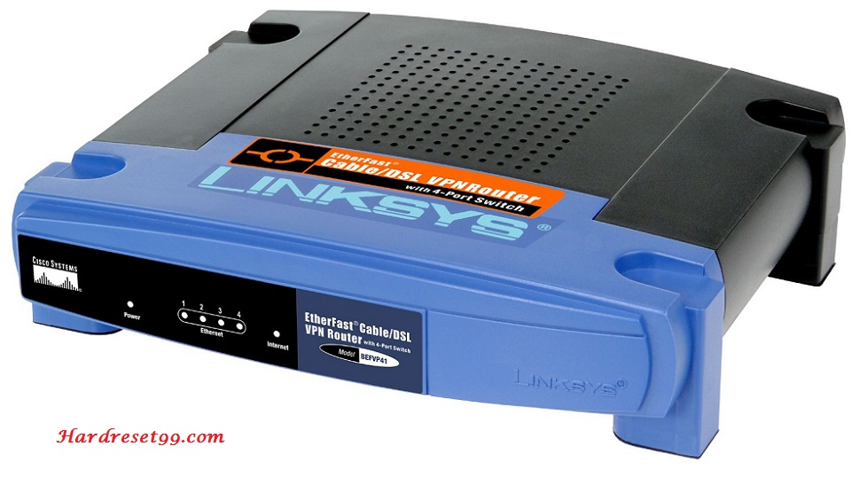 Linksys BEFVP41v2 Router - How to Reset to Factory Settings