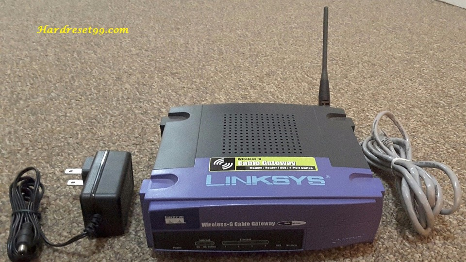 Linksys WCG200v2 Router - How to Reset to Factory Settings