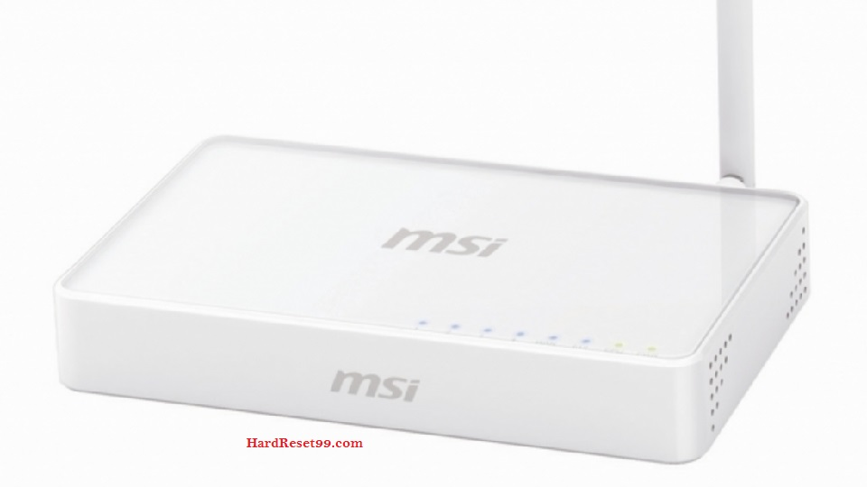 MSI RG300N Router - How to Reset to Factory Settings
