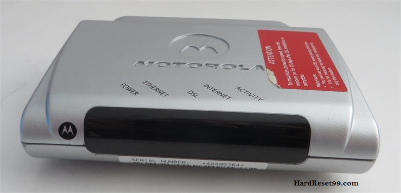 Motorola 2210-02 Router - How to Reset to Factory Settings