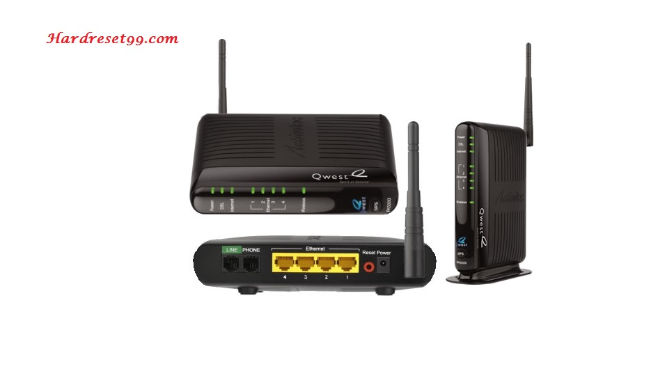Qwest PK5000Z Router - How to Reset to Factory Settings