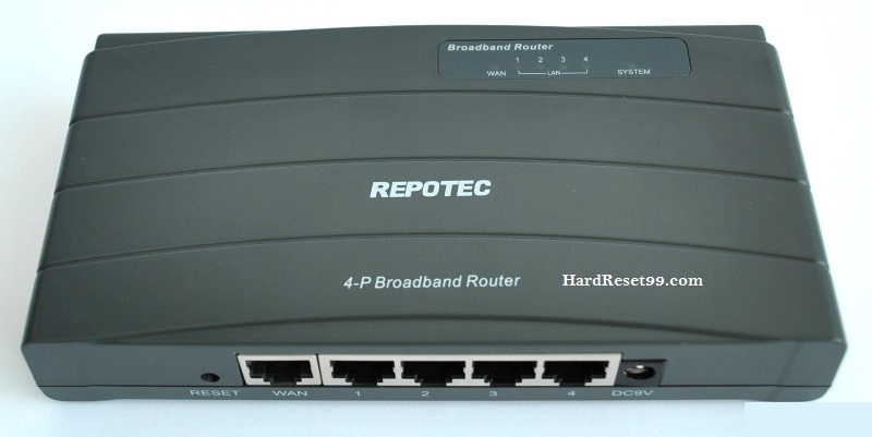 Repotec RP-IP2105 Router - How to Reset to Factory Settings