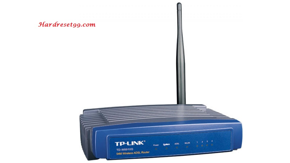 TP-Link TD-W8910G Router - How to Reset to Factory Settings