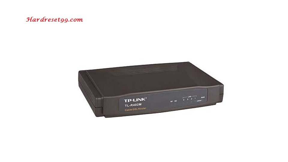TP-Link TL-R402M Router - How to Reset to Factory Settings