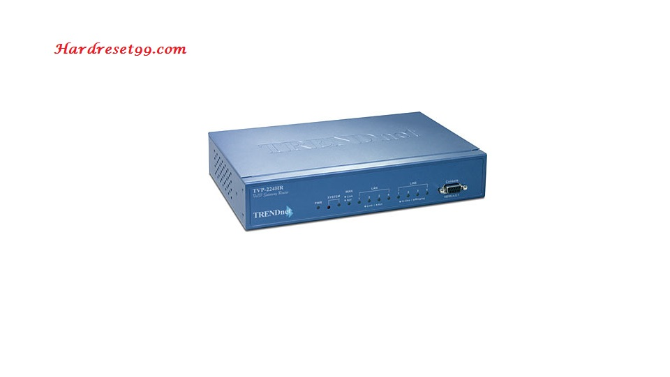 TRENDnet TVP-224HR Router - How to Reset to Factory Settings