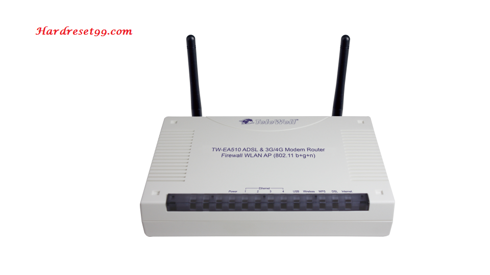 Telewell TW-EA510v3-b Router - How to Reset to Factory Settings
