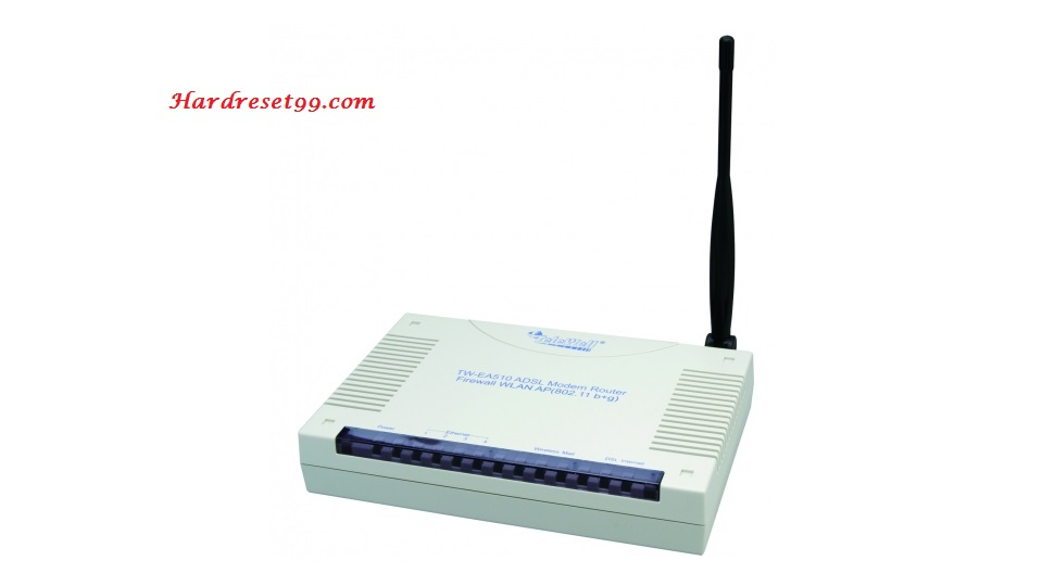 Telewell TW-EA510v4 Router - How to Reset to Factory Settings