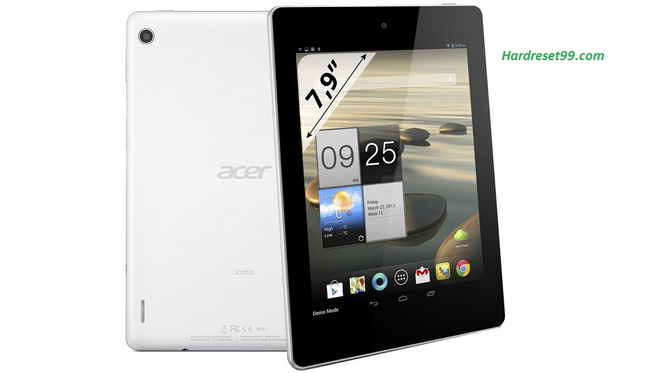 ACER A1-811 Iconia Tab Hard reset, Factory Reset and Password Recovery