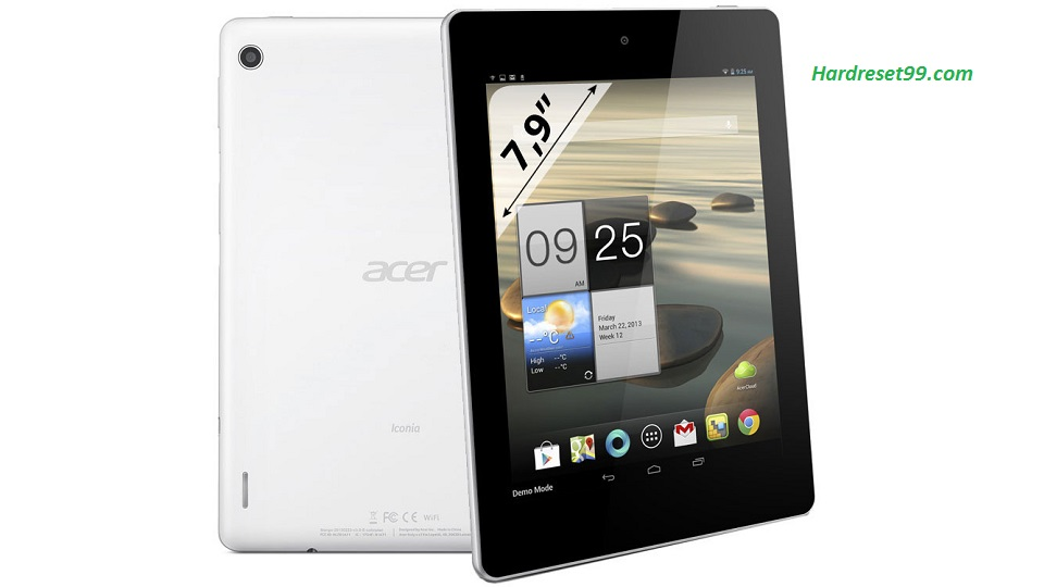 ACER A1-841 Iconia Tab 8 Hard reset, Factory Reset and Password Recovery