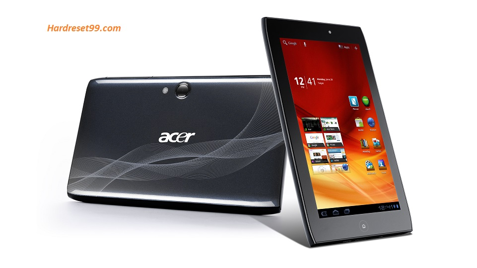 ACER A100 Iconia Tab Hard reset, Factory Reset and Password Recovery