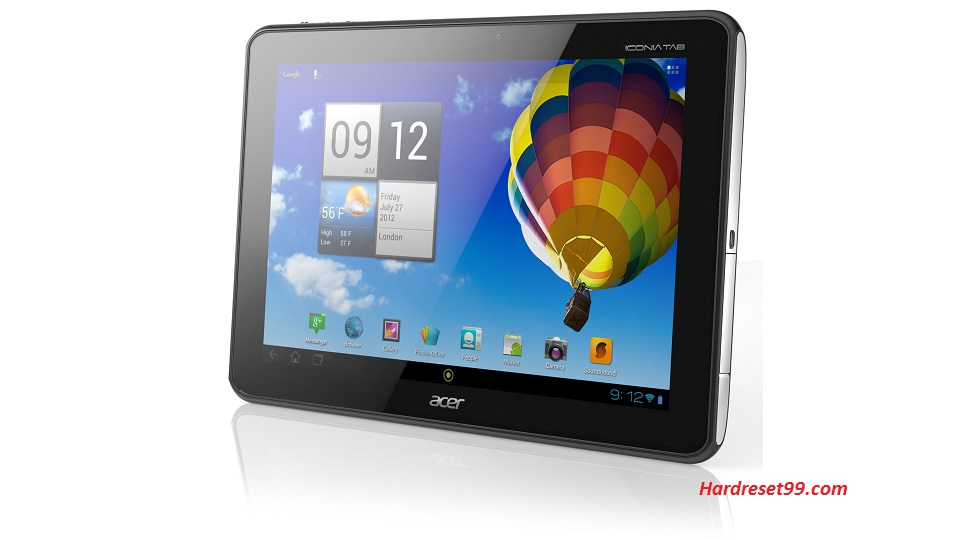 ACER A510 Iconia Tab Hard reset, Factory Reset and Password Recovery