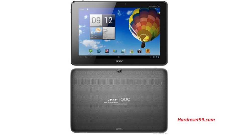 ACER A511 Iconia Tab Hard reset, Factory Reset and Password Recovery