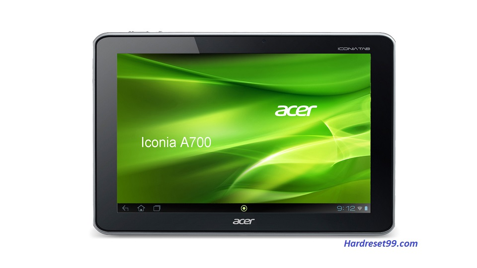 ACER A700 Iconia Tab Hard reset, Factory Reset and Password Recovery