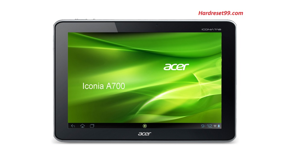 ACER A701 Iconia Tab Hard reset, Factory Reset and Password Recovery