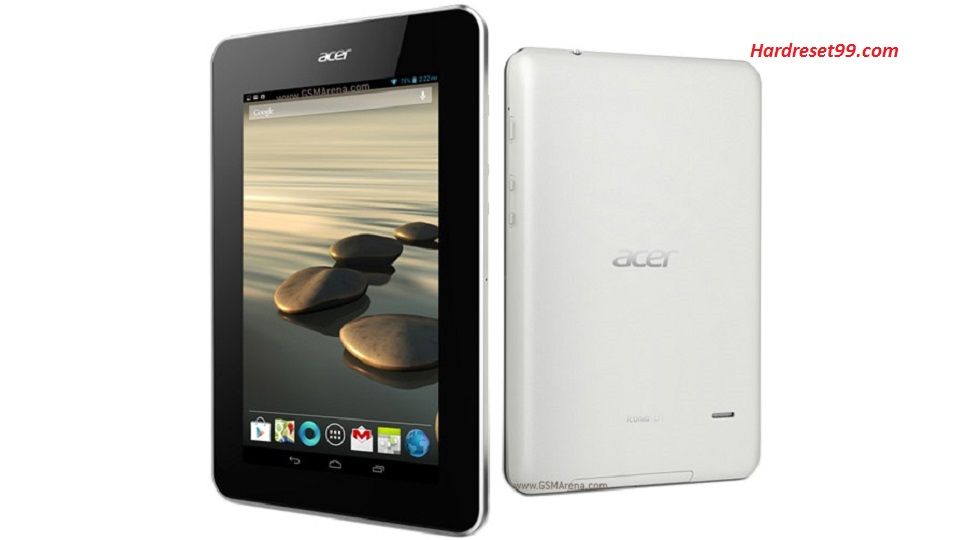 ACER B1-710 Iconia Tab Hard reset, Factory Reset and Password Recovery