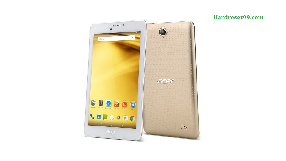ACER B1-723 Iconia Talk 7 Hard reset, Factory Reset and Password Recovery