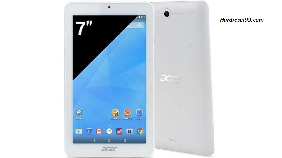 ACER B1-770 Iconia One 7 Hard reset, Factory Reset and Password Recovery