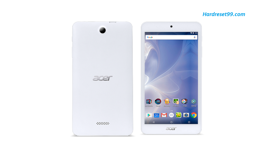 ACER B1-780 Iconia One 7 Hard reset, Factory Reset and Password Recovery