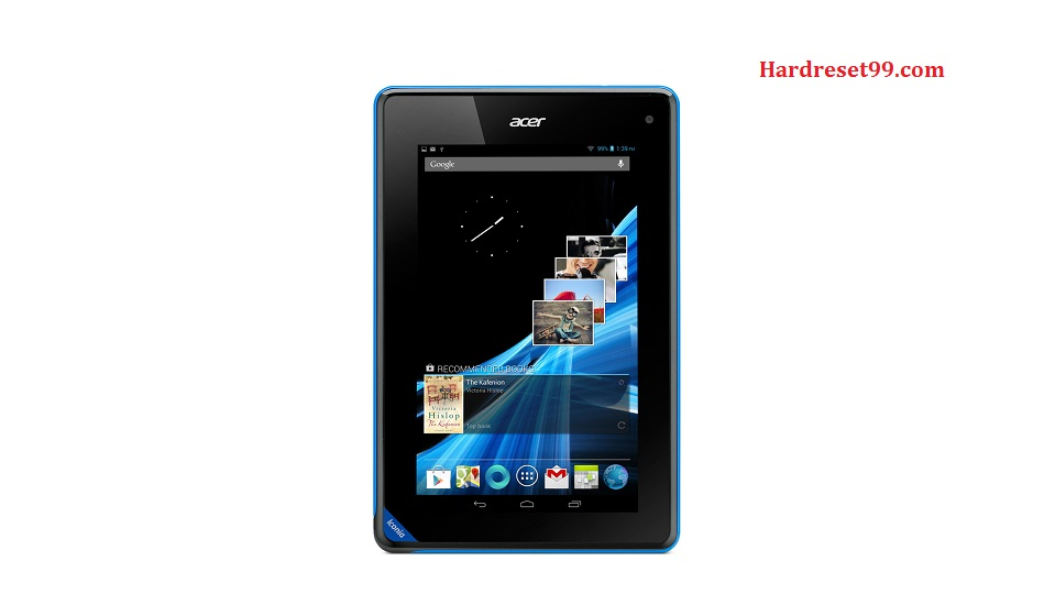 ACER B1 Iconia Tab Hard reset, Factory Reset and Password Recovery