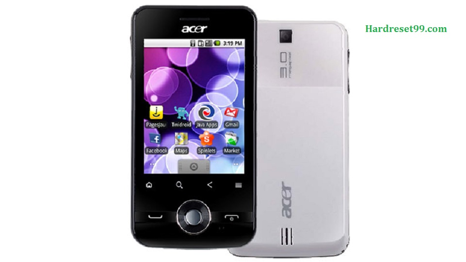 ACER E120 beTouch Hard reset, Factory Reset and Password Recovery