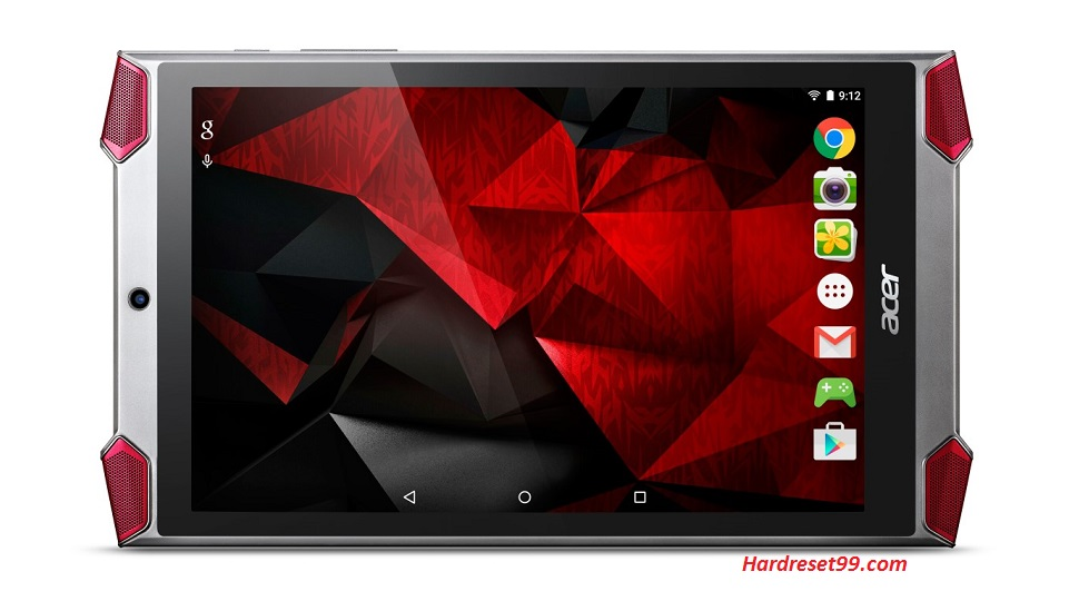 ACER GT-810 Predator 8 Hard reset, Factory Reset and Password Recovery