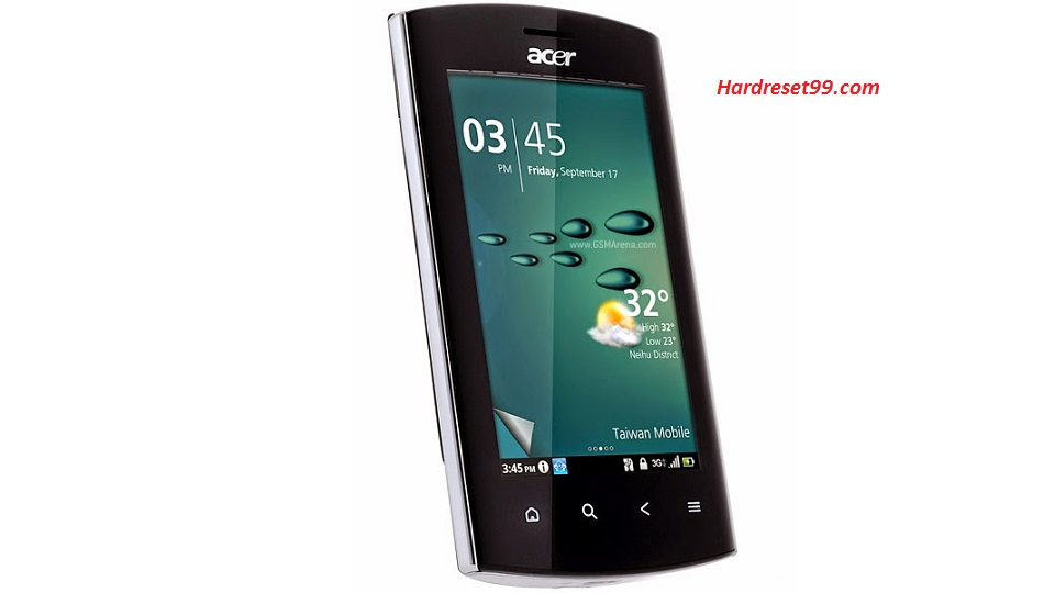ACER Liquid Z100 Hard reset, Factory Reset and Password Recovery