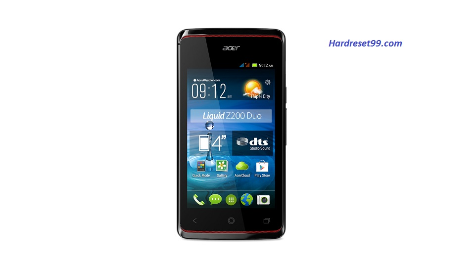 ACER Liquid Z200 Duo Hard reset, Factory Reset and Password Recovery