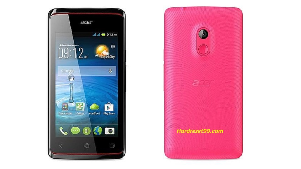 ACER Liquid Z200 Hard reset, Factory Reset and Password Recovery