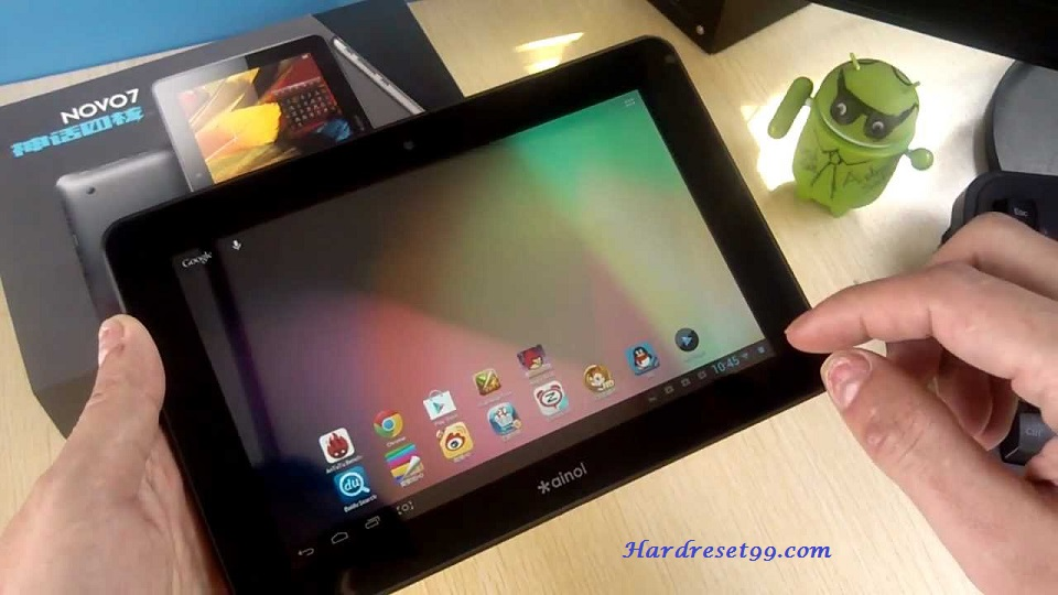 AINOL Novo 7 Crystal Hard reset - How To Factory Reset