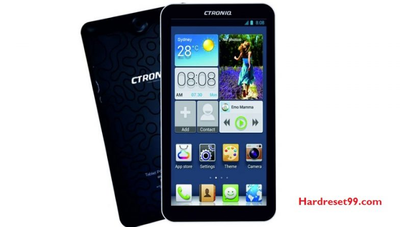 CTRONIQ C76 Hard Reset