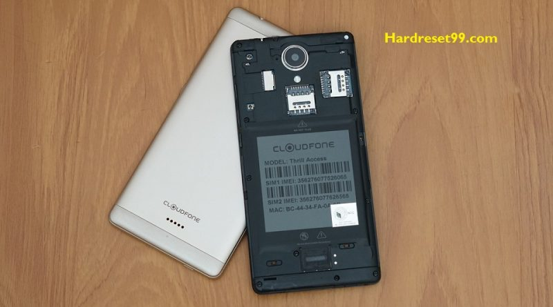 CloudFone Thrill Plus Hard Reset