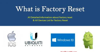 Factory Reset definition & all devices list for reset