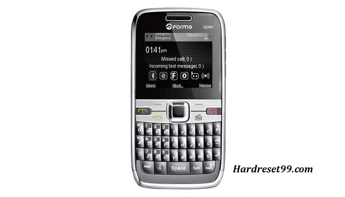 Forme Q600 Hard reset - How To Factory Reset