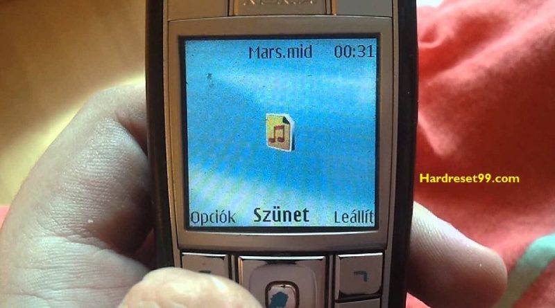 Nokia 6230i Hard reset - How To Factory Reset