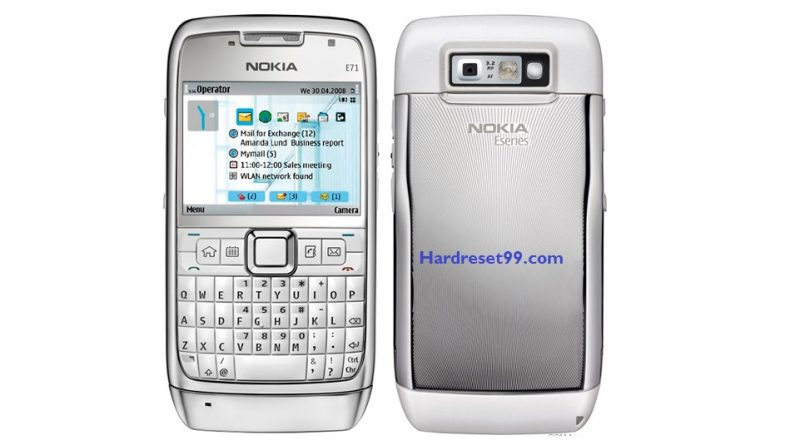 Nokia E71 Hard reset - How To Factory Reset