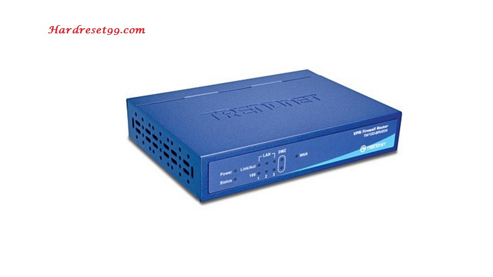 TRENDnet TW100-BRV204 Router - How to Reset to Factory Settings