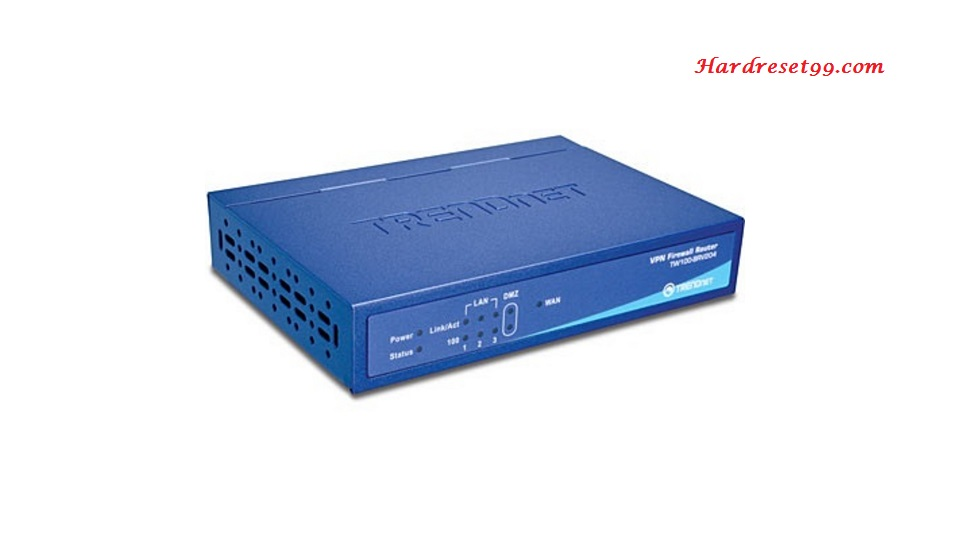 TRENDnet TW100-BRV204v3 Router - How to Reset to Factory Settings