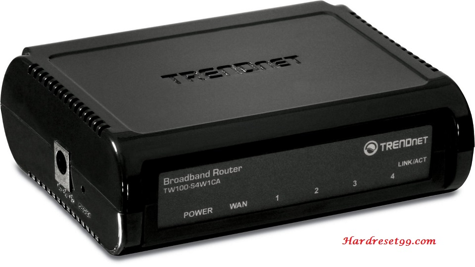 TRENDnet TW100-S4W1CA Version-G Router - How to Reset to Factory Settings