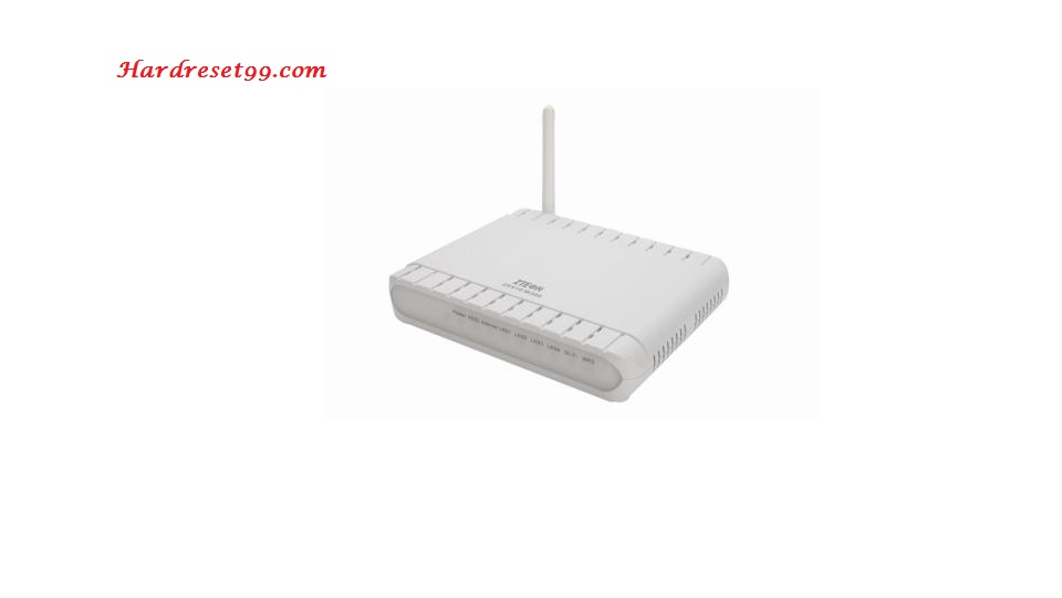 ZTE Bavo-ZXV10-W300 Router - How to Reset to Factory Settings
