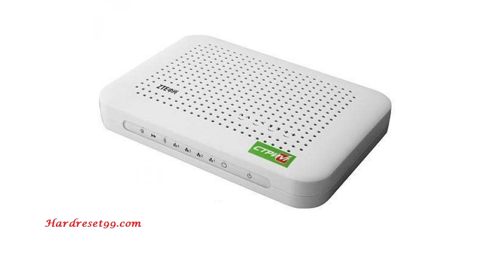 ZTE ZXDSL 931VII Netvigator Router - How to Reset to Factory Settings